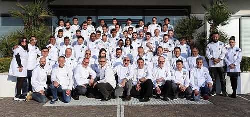 This is a picture of Gelato World Cup Competitors