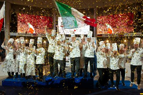 This is a picture of the Gelato World Cup Winners
