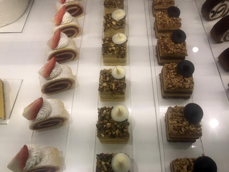 This is a picture of Gelato World Cup desserts